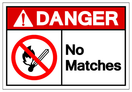 Danger No Matches Symbol Sign, Vector Illustration, Isolate On White Background Label. EPS10 Stock Illustratie