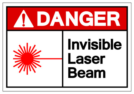 Danger Invisible Laser Beam Symbol Sign, Vector Illustration, Isolate On White Background Label .EPS10