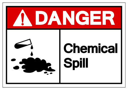 Danger Chemical Spill Symbol Sign,Vector Illustration, Isolated On White Background Label. EPS10