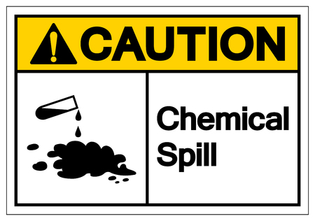 Caution Corrosive Symbol Sign, Vector Illustration, Isolate On White Background Label. EPS10