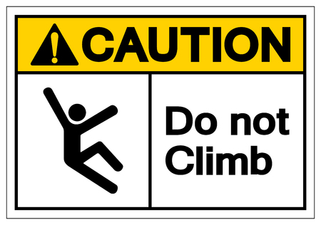 Caution Do Not Climb Symbol Sign, Vector Illustration, Isolate On White Background Label .EPS10 Stok Fotoğraf - 123970184