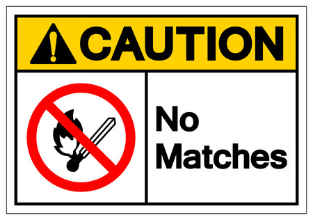 Caution No Matches Symbol Sign, Vector Illustration, Isolate On White Background Label. EPS10