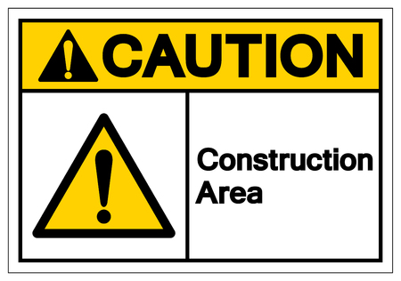 Caution Construction Area Symbol Sign, Vector Illustration, Isolate On White Background Label. EPS10 Illustration