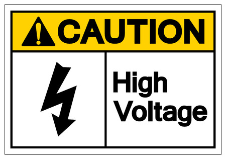 Caution High Voltage Symbol Sign ,Vector Illustration, Isolate On White Background Label. EPS10