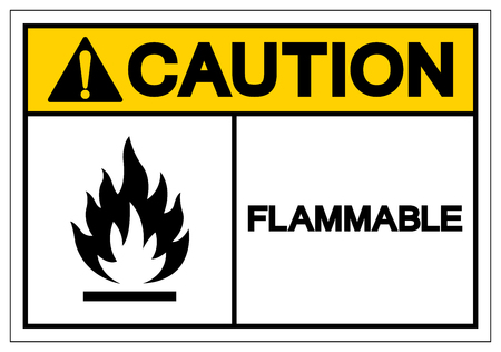Caution Flammable Symbol Sign ,Vector Illustration, Isolate On White Background Label. EPS10