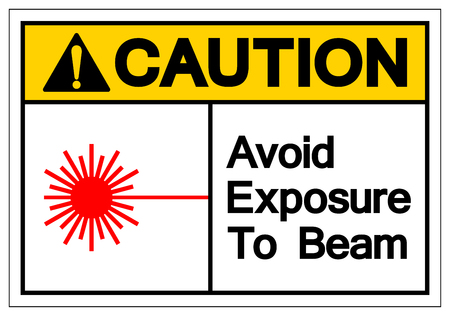 Caution Avoid Exposure To Beam Symbol Sign, Vector Illustration, Isolate On White Background Label .EPS10