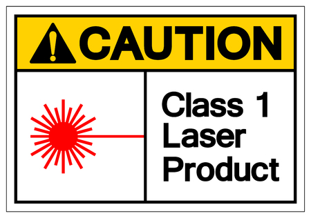 Caution Class 1 Laser Product Symbol Sign, Vector Illustration, Isolate On White Background Label. EPS10 Illustration