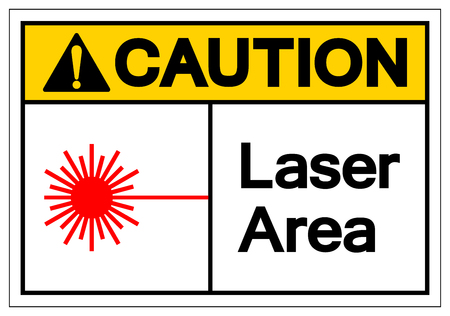 Caution Laser Area Symbol Sign, Vector Illustration, Isolated On White Background Label .EPS10