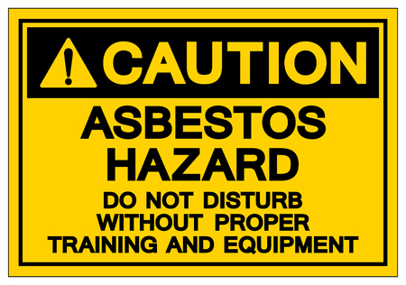 Caution Asbestos Hazard Symbol Sign, Vector Illustration, Isolated On White Background Label .EPS10 Vector Illustration
