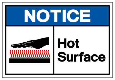 Notice Hot Surface Symbol Sign, Vector Illustration, Isolate On White Background Label .EPS10