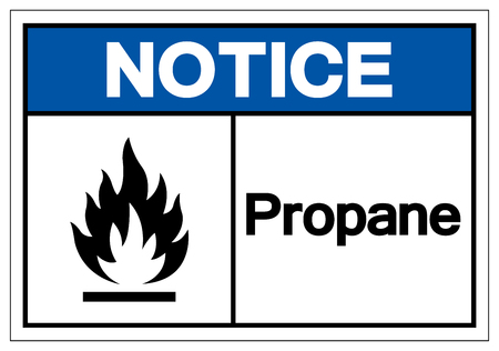 Notice Propane Symbol Sign, Vector Illustration, Isolate On White Background Label. EPS10 Vector Illustration
