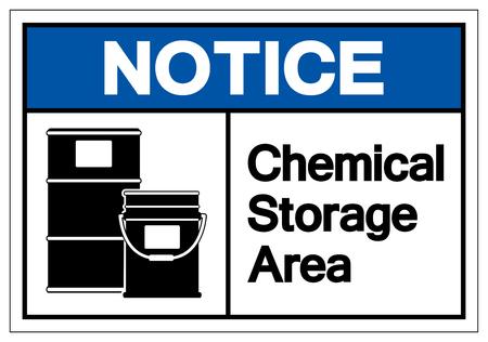 Avviso segno simbolo di stoccaggio chimico, illustrazione vettoriale, isolato su sfondo bianco etichetta .EPS10 Vettoriali