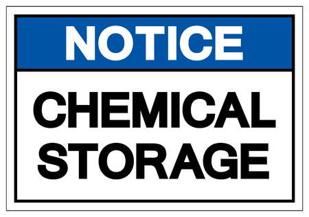 Notice Chemical Storage Symbol Sign, Vector Illustration, Isolate On White Background Label. EPS10