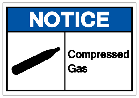 Notice Compressed Gas Symbol Sign, Vector Illustration, Isolate On White Background Label. EPS10 Stok Fotoğraf - 120391270