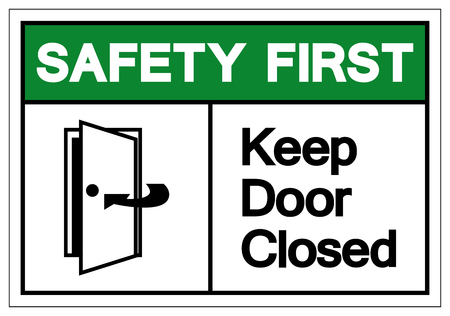 Safety First Keep Door Closed Symbol Sign, Vector Illustration, Isolate On White Background Label. EPS10 Reklamní fotografie - 123863707