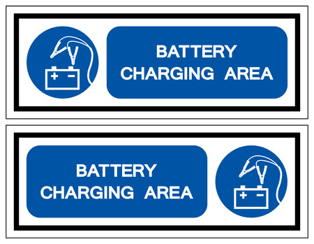 Battery Charging Area Symbol Sign, Vector Illustration, Isolated On White Background Label .EPS10