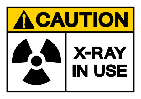 Caution X-Ray In Use Symbol Sign, Vector Illustration, Isolate On White Background Label. EPS10 Ilustração