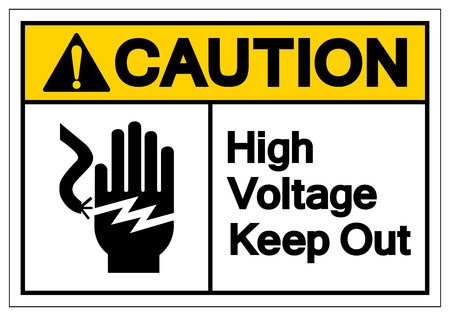 Caution High Voltage Keep Out Symbol Sign, Vector Illustration, Isolate On White Background Label .EPS10 Illustration