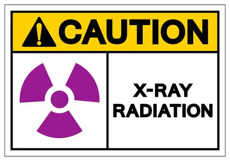 Caution X-Ray Radiation Symbol Sign, Vector Illustration, Isolate On White Background Label. EPS10