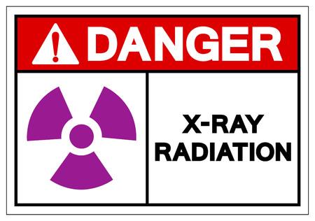 Danger X-Ray Radiation Symbol Sign, Vector Illustration, Isolate On White Background Label. EPS10