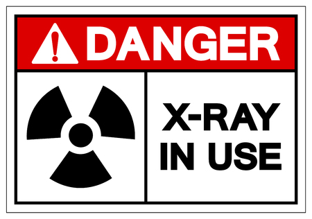 Danger X-Ray In Use Symbol Sign, Vector Illustration, Isolate On White Background Label. EPS10