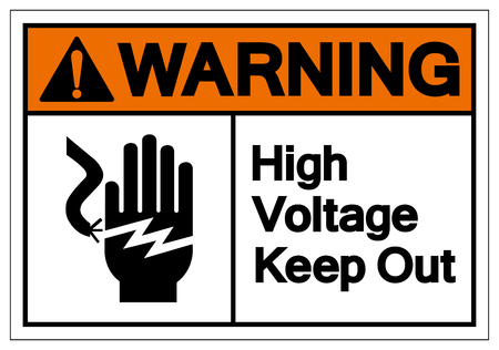 Warning High Voltage Keep Out Symbol Sign, Vector Illustration, Isolate On White Background Label .EPS10 Illustration