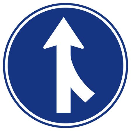 Fusionne le panneau de signalisation de circulation à droite, illustration vectorielle, isoler sur fond blanc, symboles, icône. EPS10