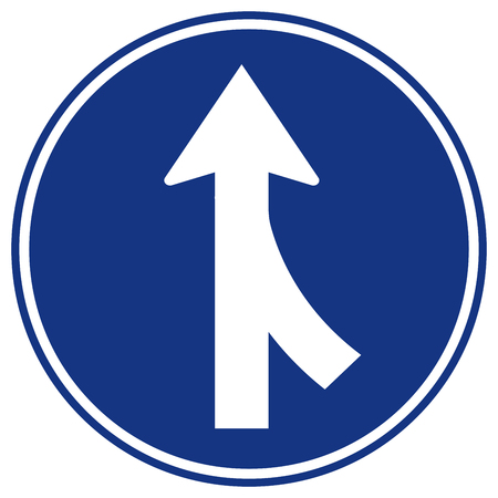 Merges Right Traffic Road Sign,Vector Illustration, Isolate On White Background, Symbols, Icon. EPS10