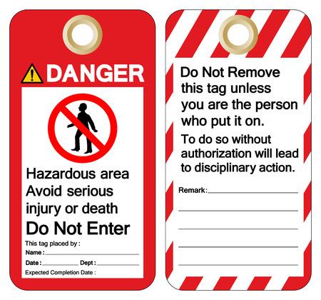 Danger Hazardous area avoid serious injury or death do not enter Symbol Sign ,Vector Illustration, Isolate On White Background Label. EPS10