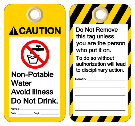 Caution Non-Potable Water Avoid Illness Do Not Drink Symbol Sign ,Vector Illustration, Isolate On White Background Label. EPS10