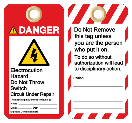 Danger Electrocution Hazard Do not throw switch circuit under repair Symbol Sign ,Vector Illustration, Isolate On White Background Label. EPS10   Illustration