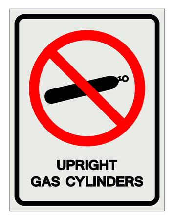 Upright Gas Cylinders Symbol Sign, Vector Illustration, Isolate On White Background Label .EPS10