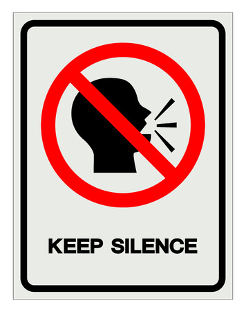 Keep Silence Symbol Sign, Vector Illustration, Isolate On White Background Label. EPS10