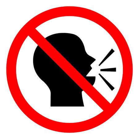 Mantenga el signo de símbolo de silencio, ilustración vectorial, aislado en el icono de fondo blanco. EPS10