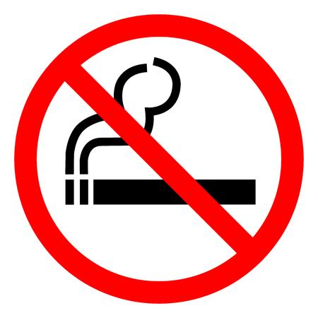 Niet roken symbool teken, vectorillustratie, isoleren op een witte achtergrond pictogram. EPS10