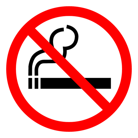 No Smoking Symbol Sign ,Vector Illustration, Isolate On White Background Icon. EPS10