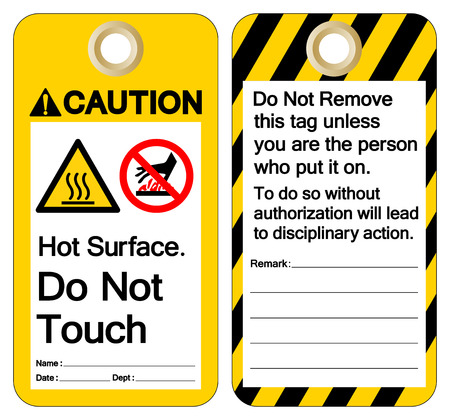 Caution Hot Surface Do not touch Symbol Sign ,Vector Illustration, Isolate On White Background Label. EPS10 Иллюстрация