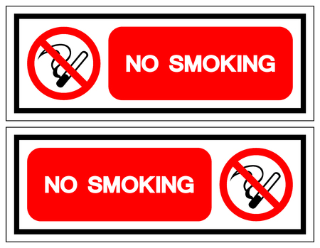 No Smoking Symbol Sign, Vector Illustration, Isolate On White Background Label. EPS10