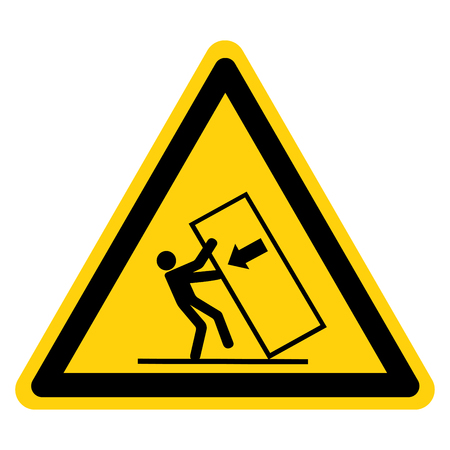 Body Crush Tip over Hazard Symbol Sign, Vector Illustration, Isolate On White Background Label .EPS10