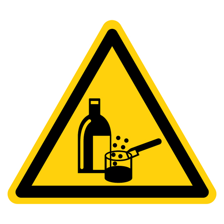 Chemicals In Use Symbol Sign, Vector Illustration, Isolate On White Background Label .EPS10