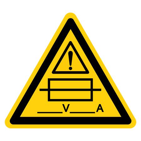 Fuse (Writable) Symbol Sign, Vector Illustration, Isolate On White Background Label .EPS10