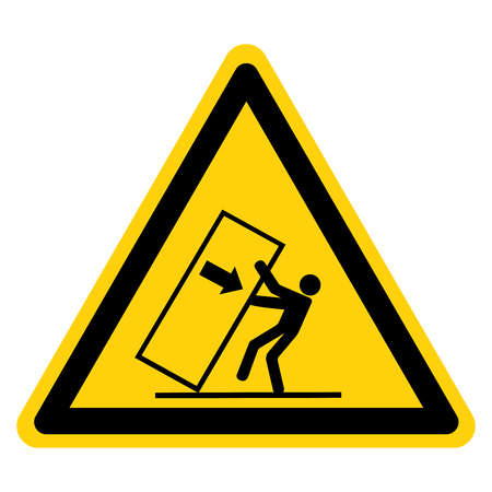 Body Crush Tip over Hazard Symbol Sign, Vector Illustration, Isolate On White Background Label .EPS10
