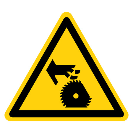 Cutting Of Fingers Or Hand Rotating Blade Symbol Sign, Vector Illustration, Isolate On White Background Label .EPS10 矢量图像