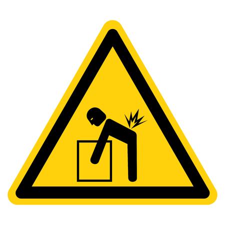 Signe de symbole de danger de levage, Illustration vectorielle, Isoler sur l'étiquette de fond blanc .EPS10