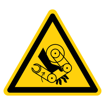 Hand Crush Robot Symbol Sign, Vector Illustration, Isolate On White Background Label .EPS10