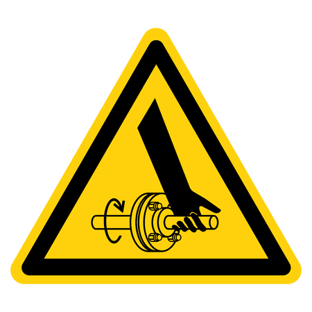 Entanglement Of Hand Rotating Shaft Symbol Sign, Vector Illustration, Isolate On White Background Label .EPS10