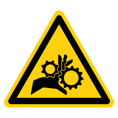 Hand Entanglement Rotating Gears Symbol Sign, Vector Illustration, Isolate On White Background Label .EPS10 Stock Illustratie