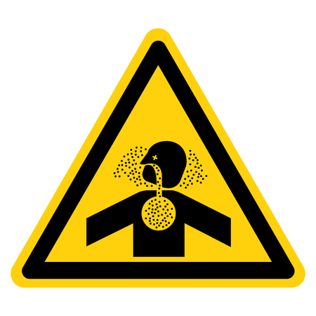 Toxic Gases Asphyxiation Symbol Sign, Vector Illustration, Isolate On White Background Label .EPS10 Illustration