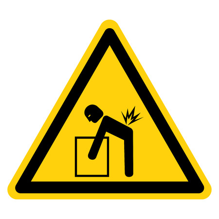 Lifting Hazard Symbol Sign, Vector Illustration, Isolate On White Background Label .EPS10 Foto de archivo - 122254894