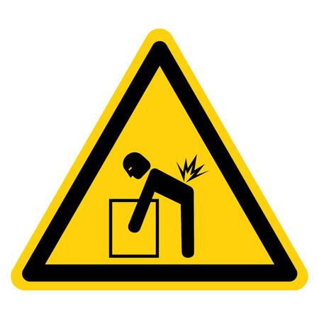 Lifting Hazard Symbol Sign, Vector Illustration, Isolate On White Background Label .EPS10